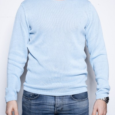 Kris K Flat Neck Knit L Blue