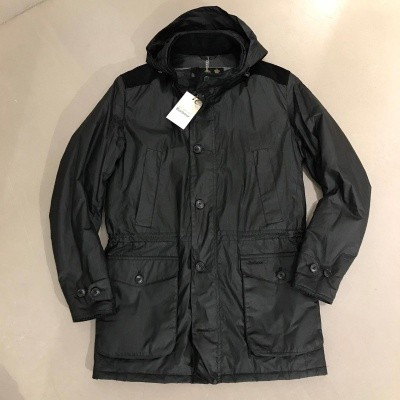 Barbour Crieff Waxed Cotton Jacket Black
