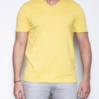 Kris-K Brad T V Neck Yellow