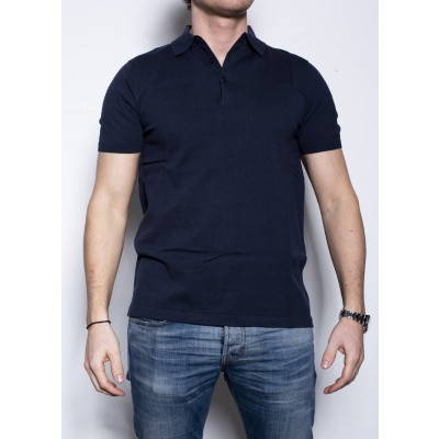 Aspesi Polo Knitted Blue