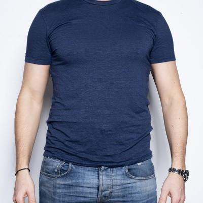 Kris K Luxury Linen T Blue