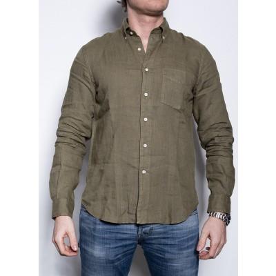 Aspesi Camicia Linen Olive