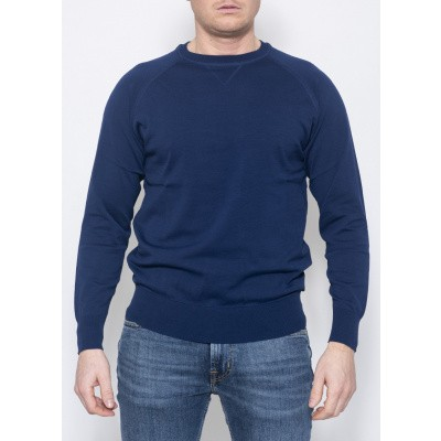 Aspesi Knit sweat Blue