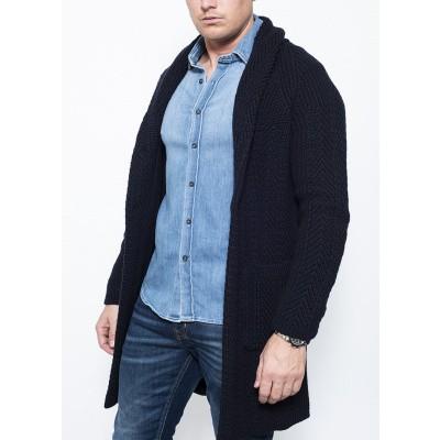 Circolo Cappotto Wool Navy