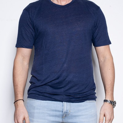 Foto van Drykorn Carlo T-shirt Navy blue