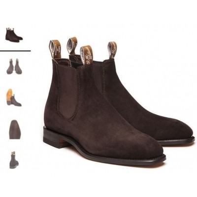 R.M.Williams Craftsman Suede Choc