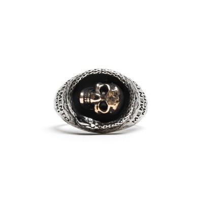 Damico Scull Ring Silver/Bras