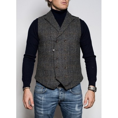Foto van Blue de Genes Harris Tweed Gillet