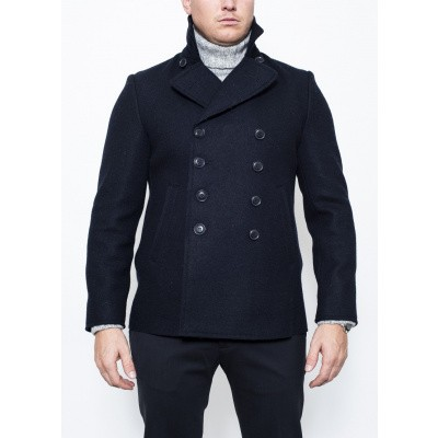 Aspesi Boiled wool Peacoat Peak