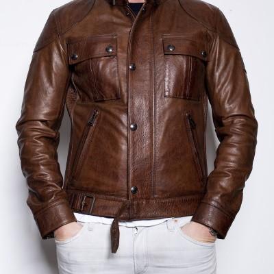 Foto van Belstaff Gangster 2.0 Jacket Cognac