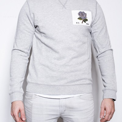 Kent & Curwen Rose Sweat Grey