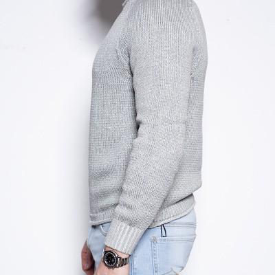 Foto van Dondup Silver Grey Cotton Knit