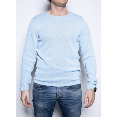Kris K Flat Neck Knit L Blue