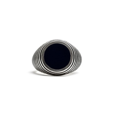Damico Black Tegel Ring Silver