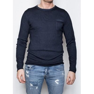 Kris K Pocket Knit Navy