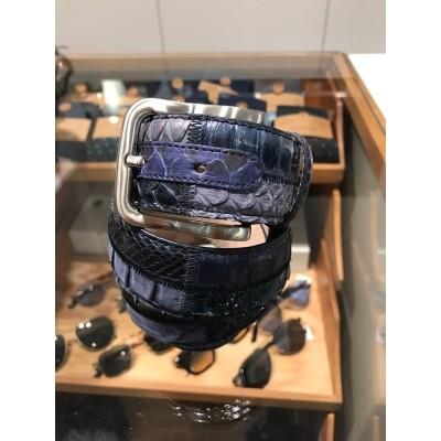 Kris K Belt Snake Patch Blue