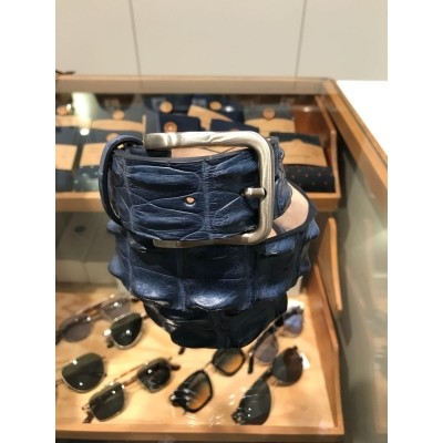 Kris K Belt Croco Blue