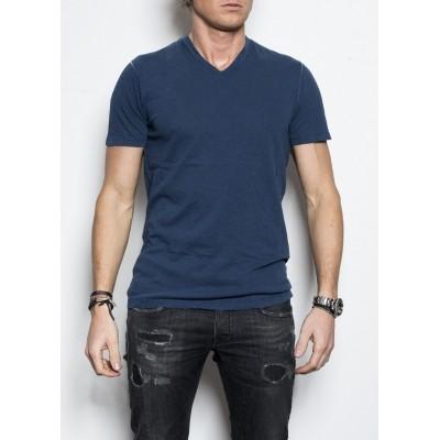 Kris K Scollo V T-shirt Blauw