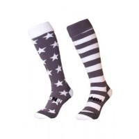 Foto van Hingly Mix en Match Stars & Stripes Grey kousen