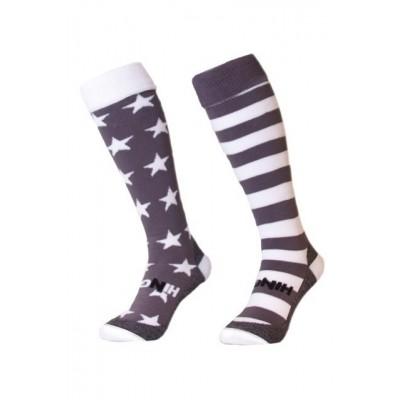Hingly Mix en Match Stars & Stripes Grey kousen