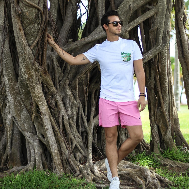 c61aee2773ca68 Pink Mens Swimming Trunks   Sanwin Beachwear