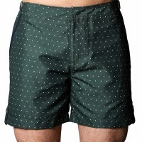 Short de Bain Tampa Dots Green