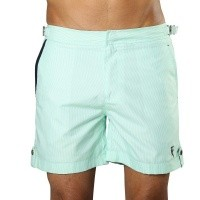 Badeshort Tampa Stripes Hint of Mint