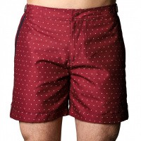 Short de Bain Tampa Dots Red