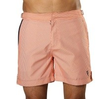 Zwemshort Tampa Stripes Tangerine Orange