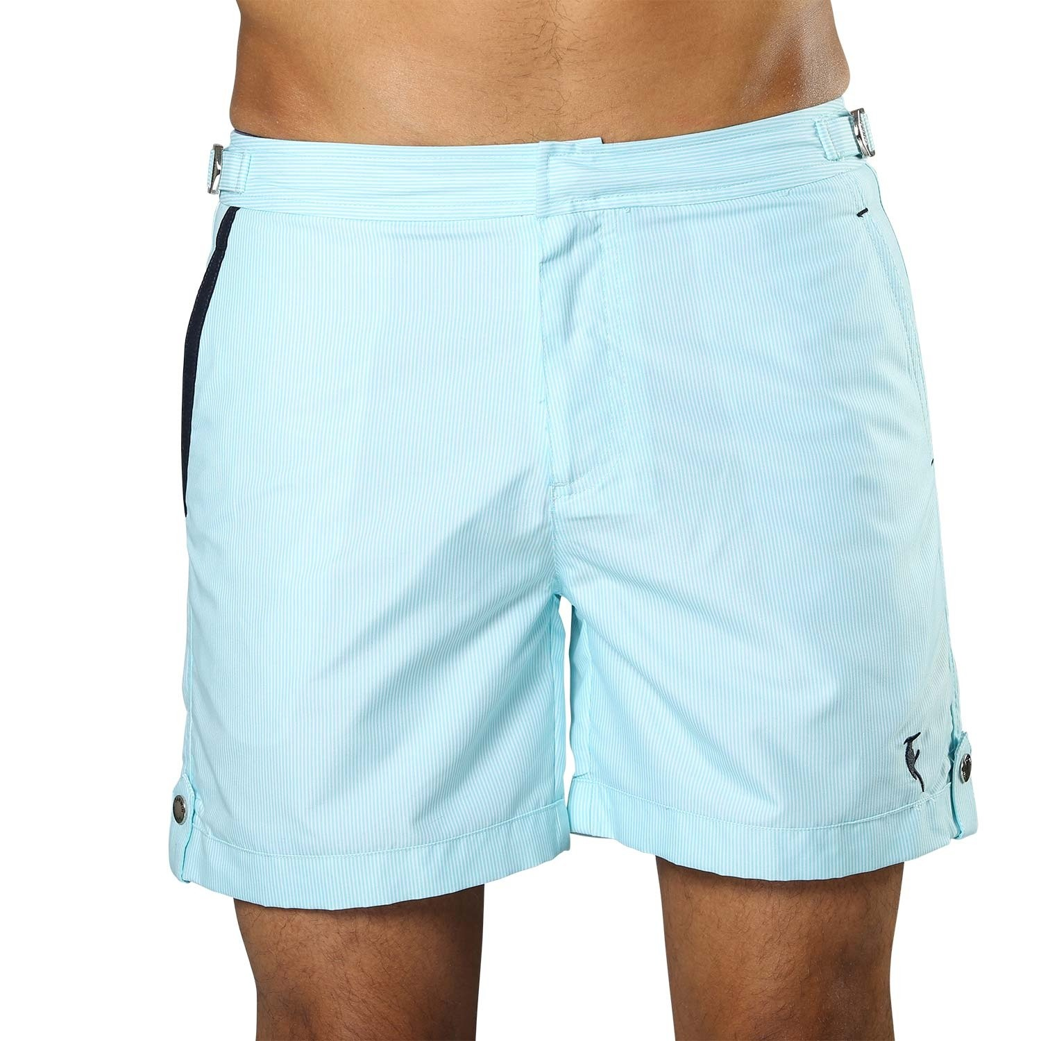Swim Short Tampa Stripes Maya Blue