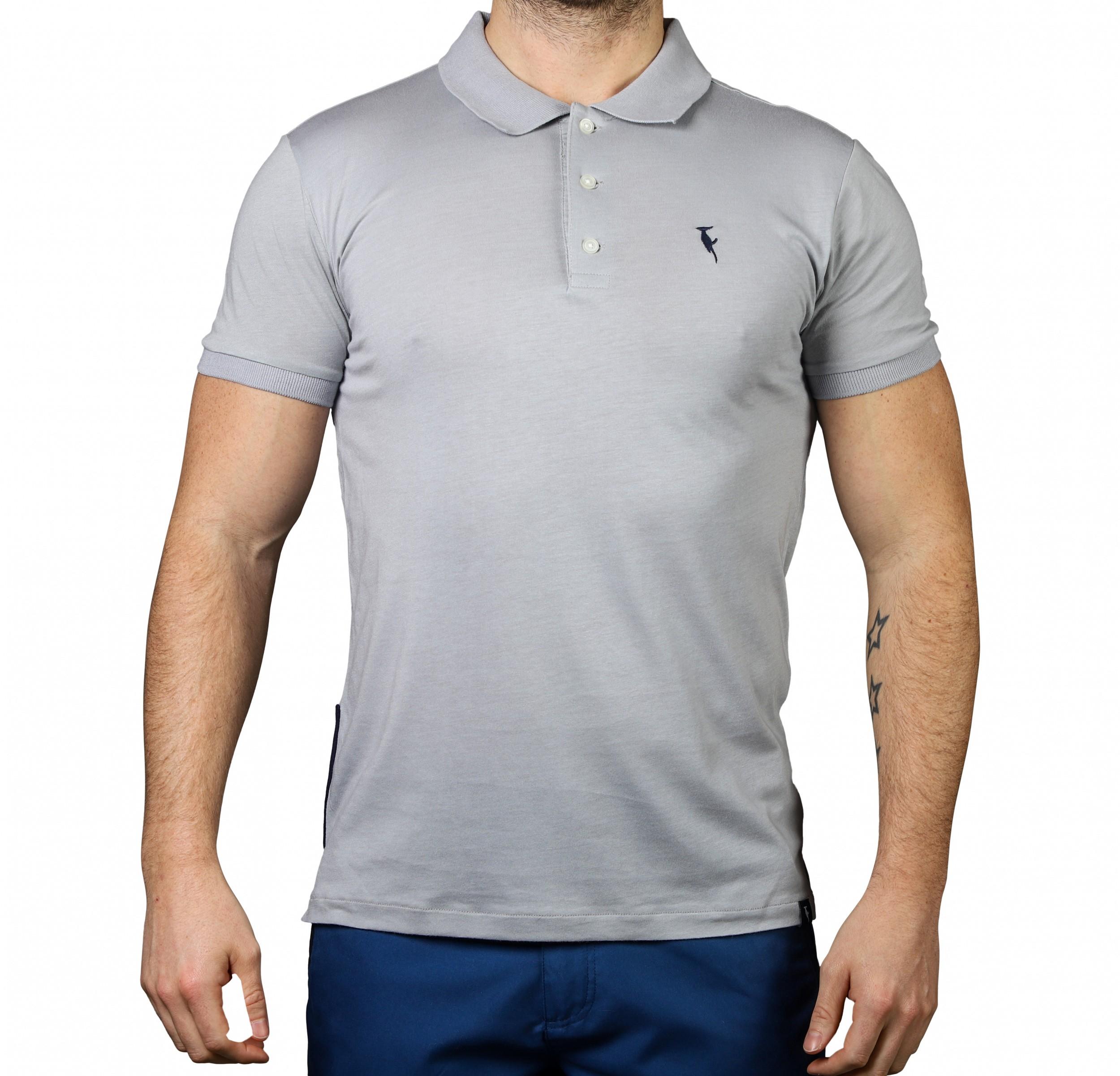 Polo Shirt Pompano Grey