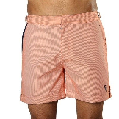 Foto van Zwemshort Tampa Stripes Tangerine Orange