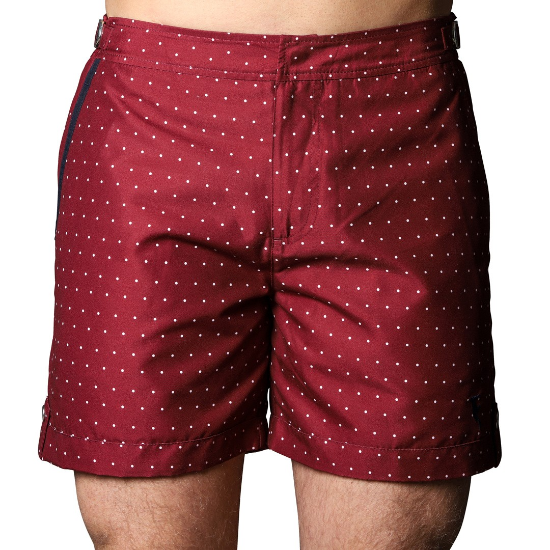 Badeshort Tampa Dots Red