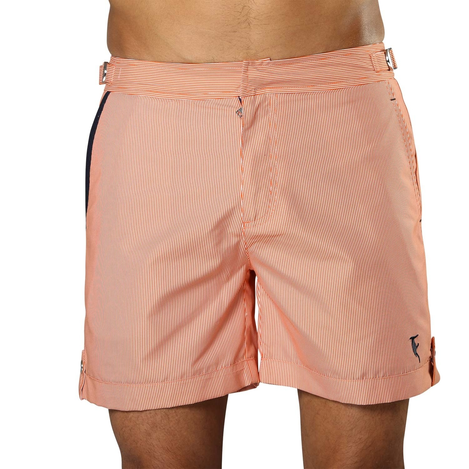 Zdjęcie Swim Short Tampa Stripes Tangerine Orange Sanwin Beachwear