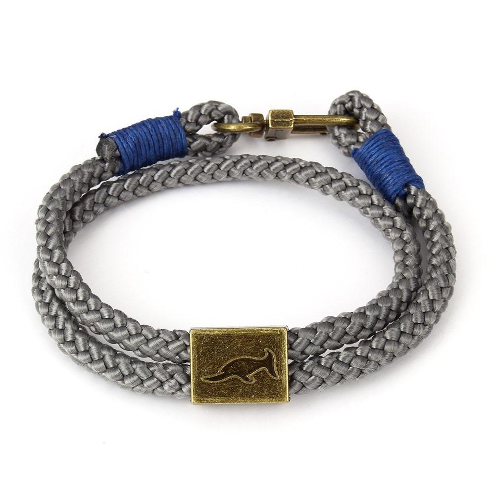 Armband Orlando Grijs/Blauw