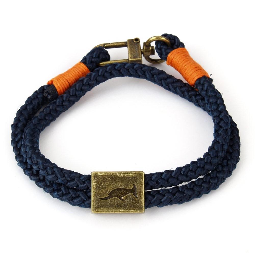 Armband Orlando Blauw/Oranje