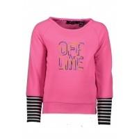 Foto van B.Nosy - Y809-5321 girls sweater neon magenta wi18