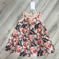 Foto van Name it - Vigga spencer dress peachy flower zo18