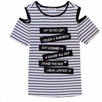 Foto van 2WENTY5IVE - Amy t-shirt zwart/wit zo18