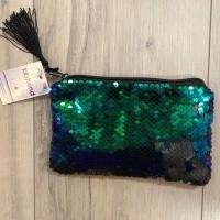 Foto van BB trend - paillet portemonnee/gsm tasje groen 12x18cm
