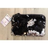 Foto van BB trend - paillet portemonnee/gsm tasje zwart 12x18cm