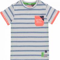 Foto van Quapi - Kato t-shirt blue neppy stripe zo18