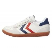 Foto van Hummel - Victory leather JR witte retro sneaker zo18