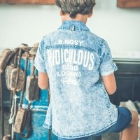 Foto van B.Nosy - Y802-6119 boys denim blouse zo18