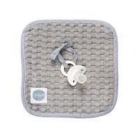 Foto van Jollein - Speendoekje 20x20cm waffle grey