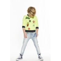 Foto van Funky XS - Patch sweater fluo yellow zo18