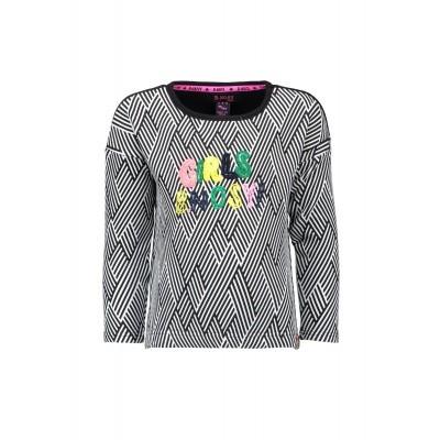 B.Nosy - Y808-5314 aop stripe black sweater wi18