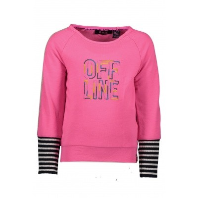 B.Nosy - Y809-5321 girls sweater neon magenta wi18