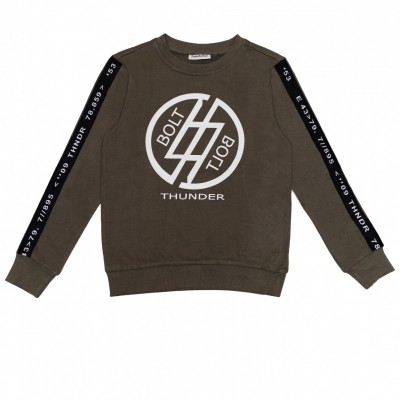 2WENTY5IVE - Thunderbolt sweater army zo18