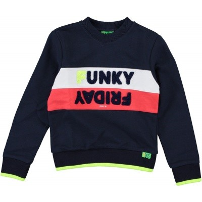 Funky XS - Retro sweat navy wi18